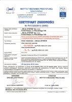 Certyfikat nr 5493
