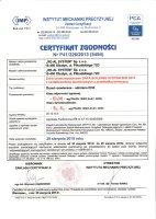 Certyfikat nr 5494