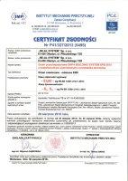 Certyfikat nr 5495
