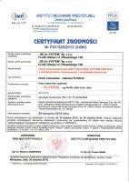 Certyfikat nr 5496