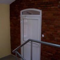 Drzwi ppoż. pełne z naświetlem łukowym